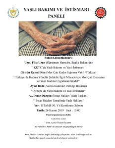 Yaşlı Bakımı Ve Yaşlı İstismarı Paneli @ KTAMS